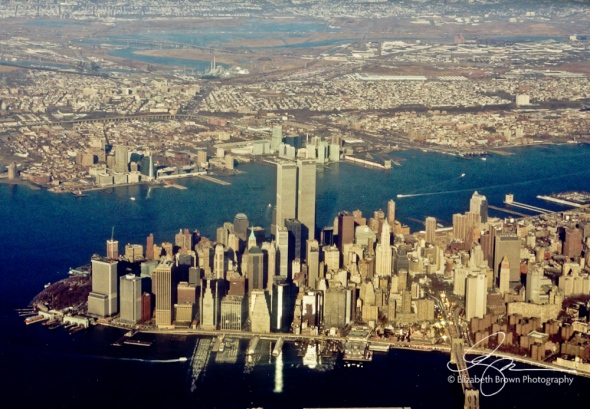 Lower Manhattan Skyline, December 1, 2000.
